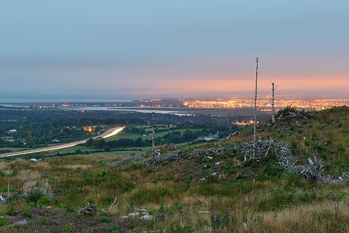 Dundalk from Drumad Wood in Ireland