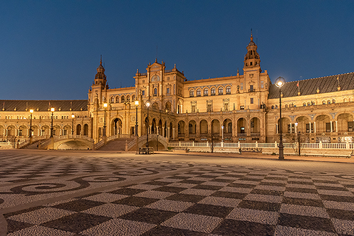 490. Plaza de Espana in Seville; Spain