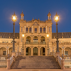 500. Plaza de Espana in Seville; Spain