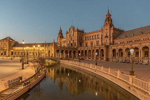540. Plaza de Espana in Seville; Spain