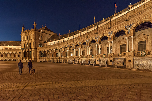 560. Plaza de Espana in Seville; Spain