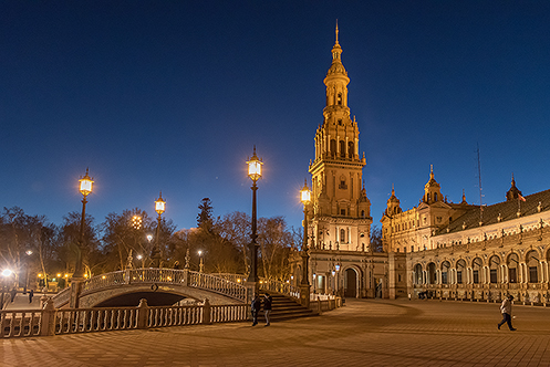 570. Plaza de Espana in Seville; Spain