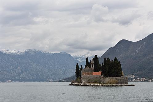 590. St George Island in Kotor Bay; Montenegro