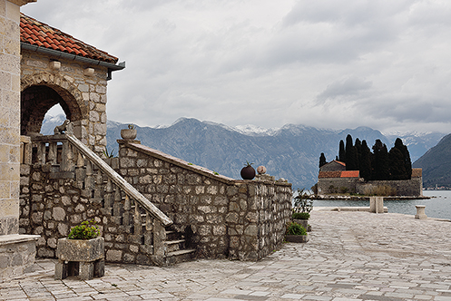 610. St George Island from Our Lady of the Rocks in Kotor Bay; Montenegro