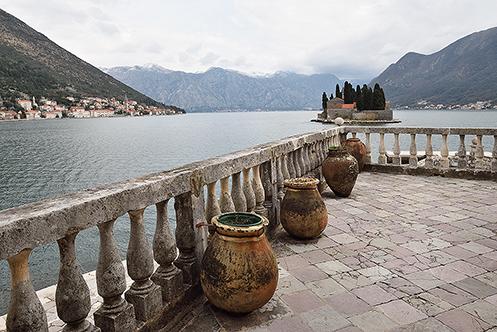 620. St George Island & Perast in Kotor Bay; Montenegro