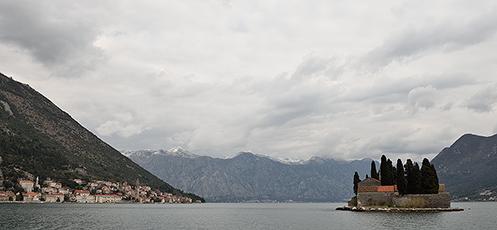 Perast & St George Island in Kotor Bay; Montenegro (1)
